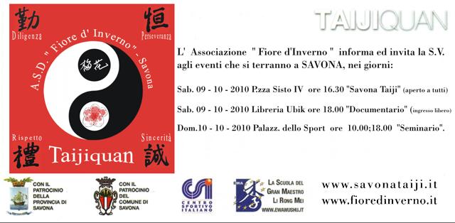 Savona Taiji 2010 - Invito